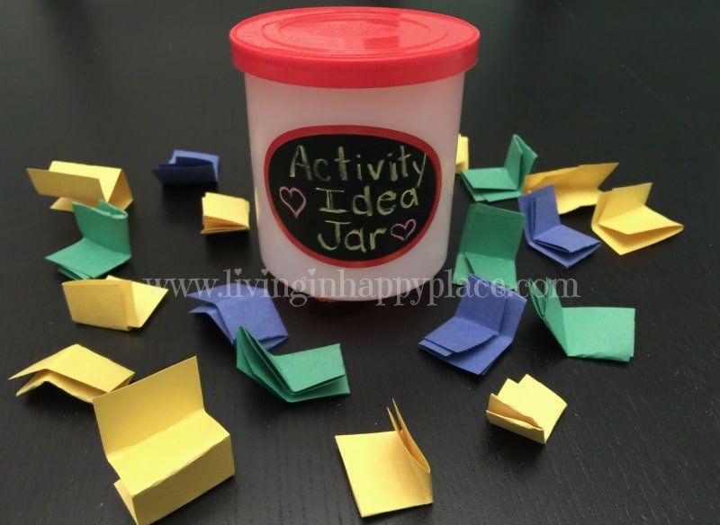 kids activity idea jar