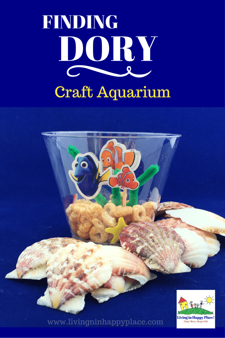 Finding Dory craft idea for kids! Throwing a Finding Dory birthday party and looking for kids activity ideas? Or do your kids just love Dory and Nemo and you would love a mommy and me activity idea? This easy, fun Finding Dory craft activity idea is perfect for preschoolers or any Dory Nemo fan!