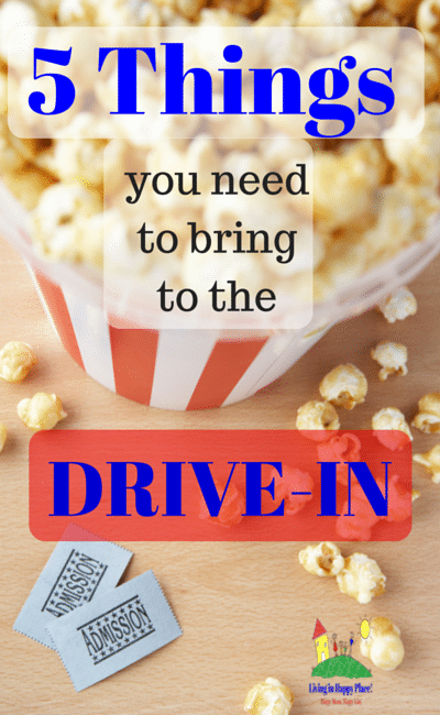 things to bring to the drive-in