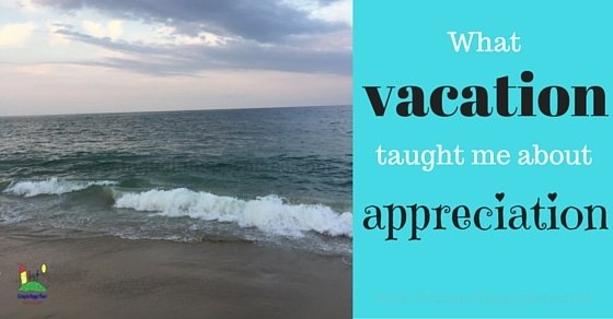 What vacation taught me about appreciation