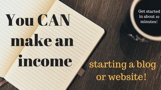 Make money starting a website or blog