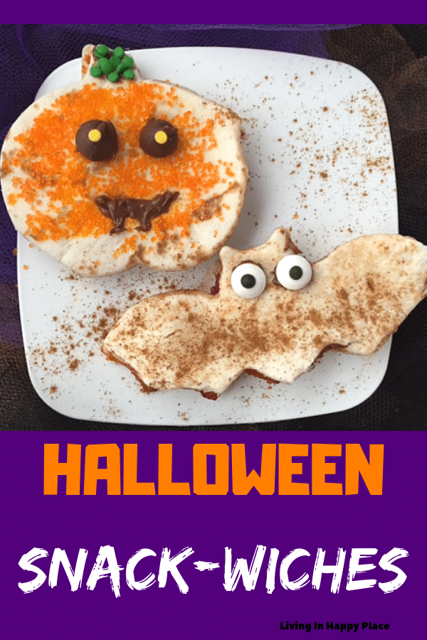 Adorable Halloween snack idea for toddlers or a fun after-school treat!!!
