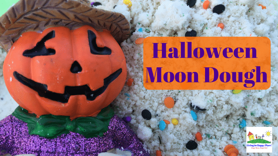 halloween moon dough craft