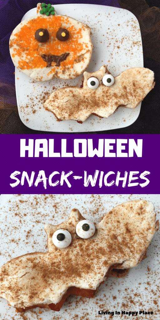 Halloween snack sandwiches