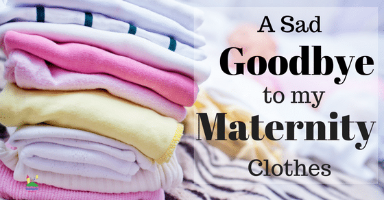 A sad goodbye to my maternity clothes