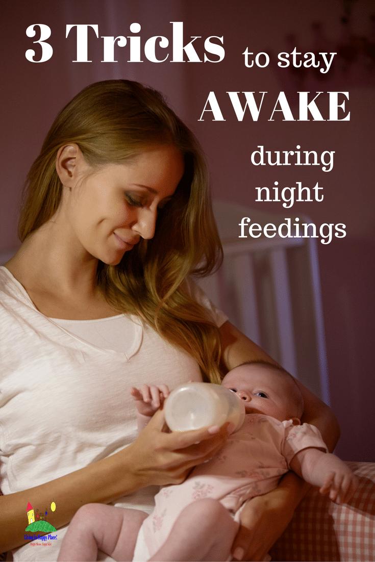 Tricks to keep mom awake during night feedings