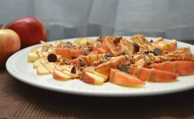 Breakfast Apple Nachos