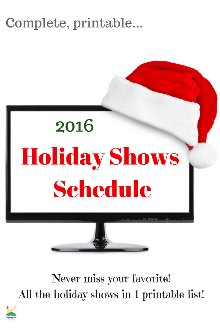 2016 Holiday Shows Schedule