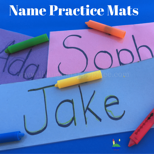 Help kids practice name writing with this DIY reusable name mat