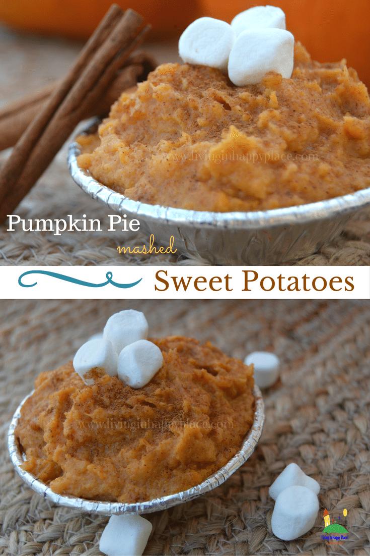Pumpkin Pie Mashed Sweet Potatoes