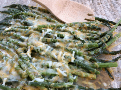 Cheesy Cajun Baked Asparagus Recipe