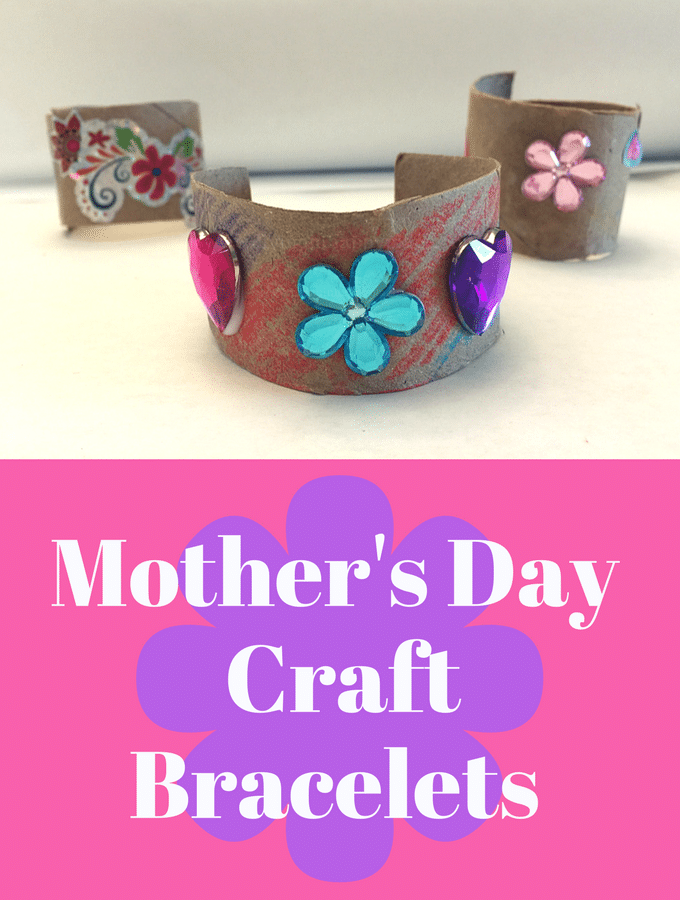 Mother's Day Craft bracelet for toddlers and preschoolers to make for Mom!