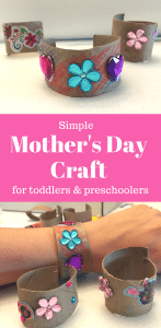 Mother's Day craft bracelet with stickers