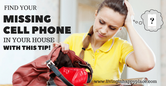 Use this trick to find your missing cell phone in your house!