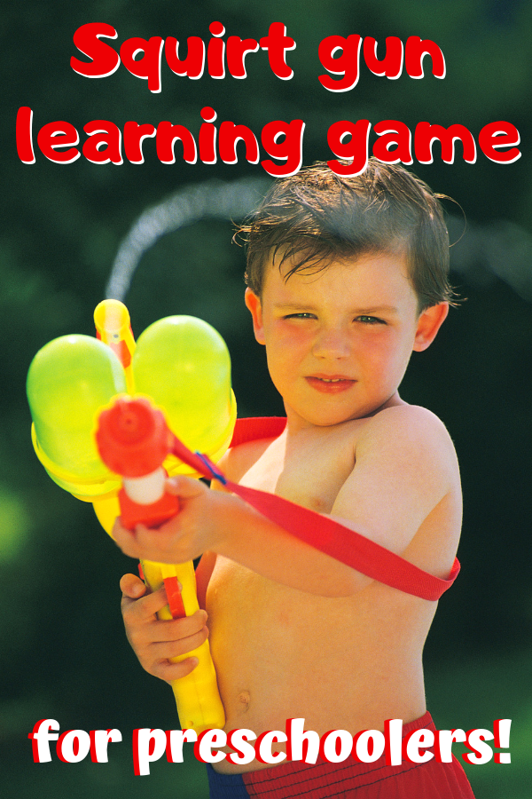 Squirt Gun Game- Water Gun learning game fun for little ones!