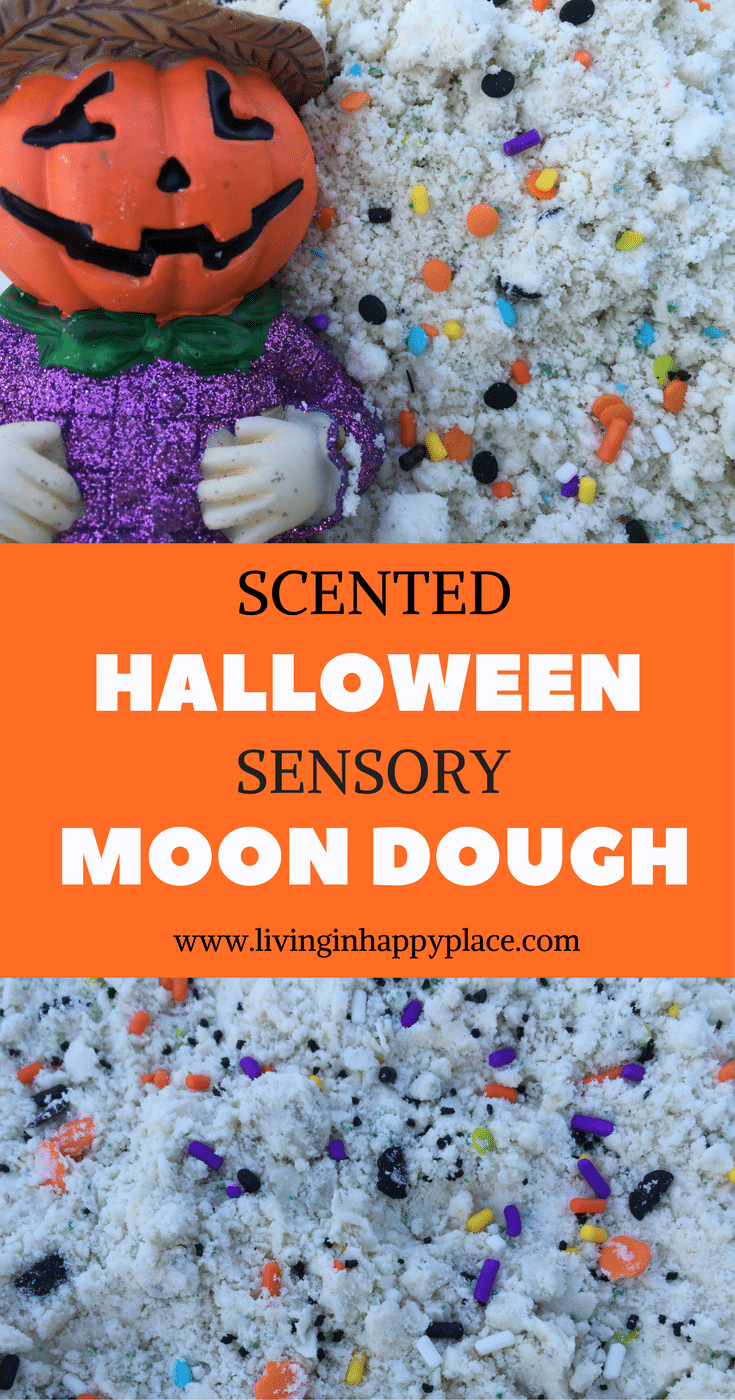 HALLOWEEN MOON DOUGH SENSORY play