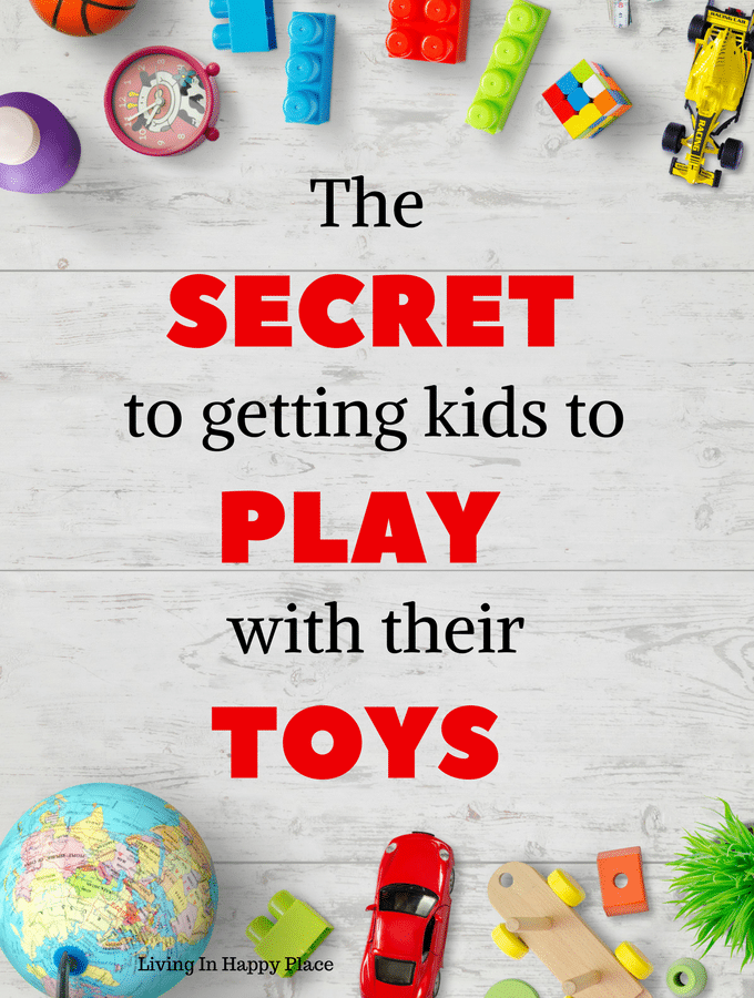 The secret to getting kids to PLAY with their toys! Effortless toy clean out