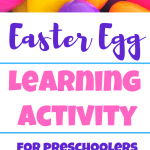 Easter eggs learning activity for preschoolers