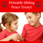 Mother's Day Sibling Peace Treaty printable