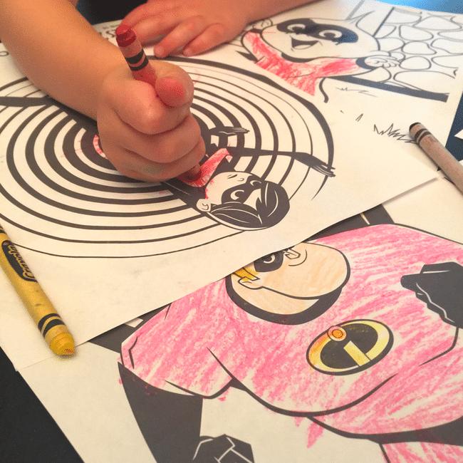 Incredibles 2 coloring sheets