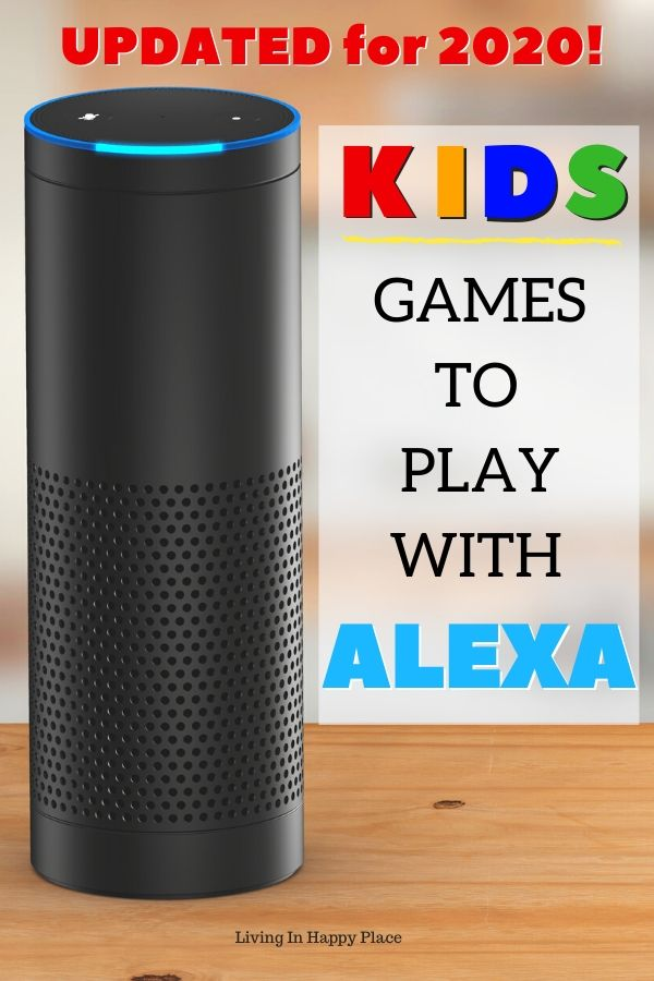 Amazon Echo with Alexa games for kids text
