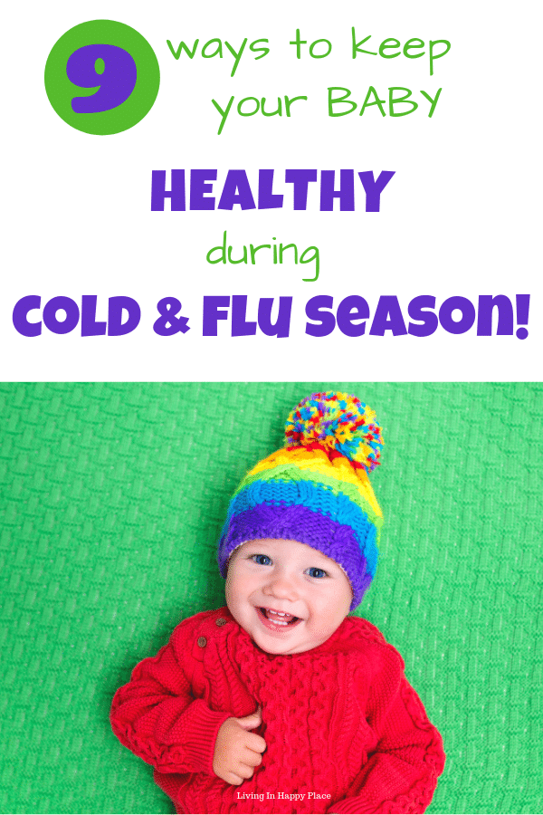 baby in hat Baby healthy during flu season-3