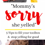 mom apologize to child to stop yelling