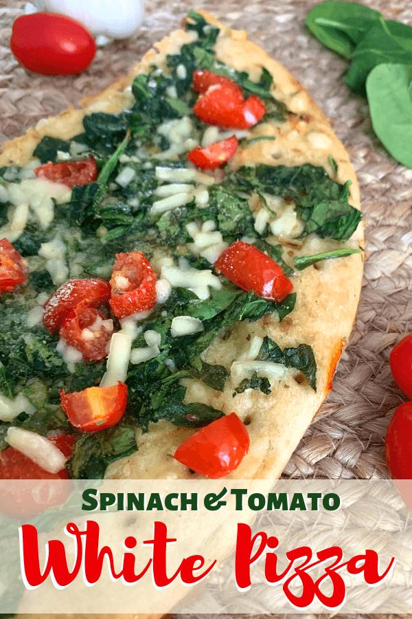 Spinach & Tomato white Pizza