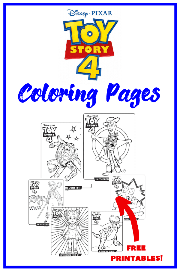 Toy Story 4 Characters Coloring Pages or Coloring Sheets! Free printables!