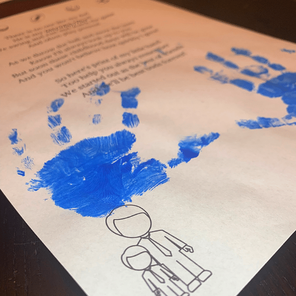 fingerprint poem to dad from son for preschoolers