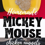 homemade Mickey Mouse chicken nuggets