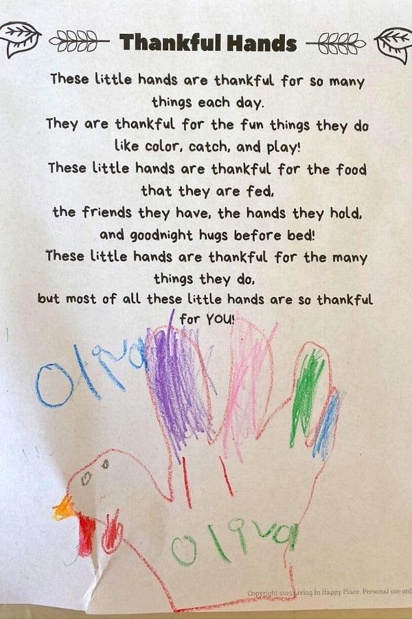 thankful hands poem