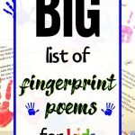 fingerprint poems for preschoolers