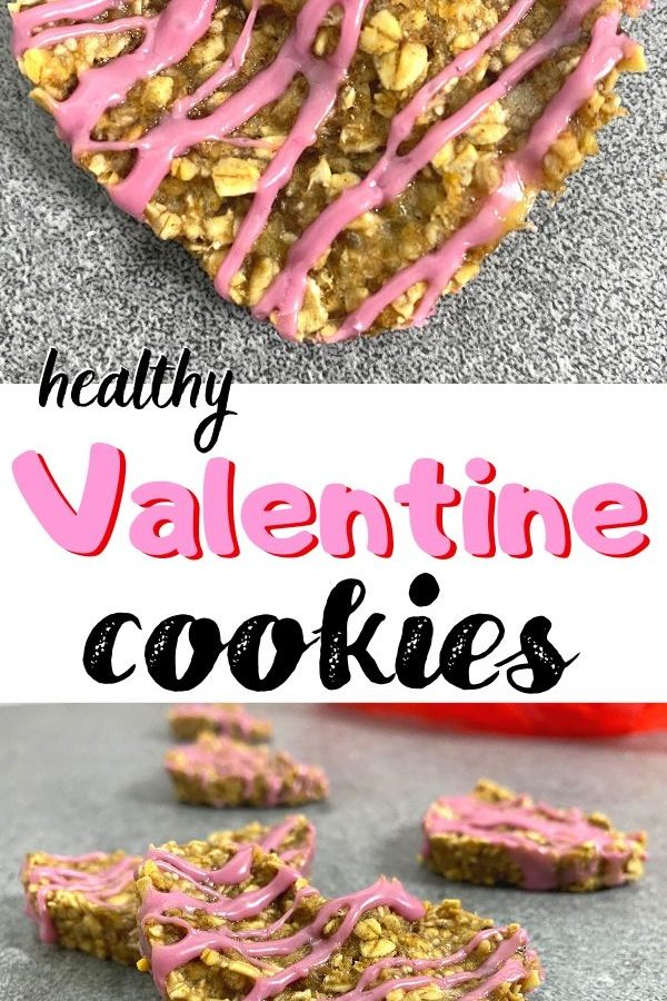 Heart shaped healthy breakfast cookies! Yummy Valentine's Day cookie or breakfast cookie for on the go!
