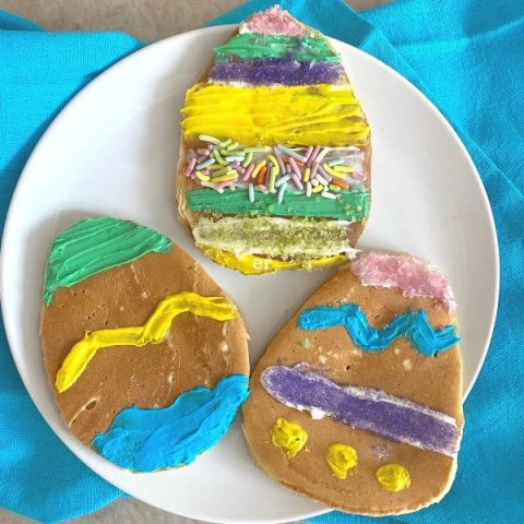 Make and Decorate! Easter Egg Pancakes!