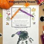 Halloween handprint poem and art supplies
