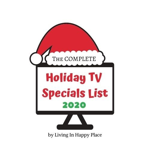 tv with santa hat and text reading holiday tv schedule 2020