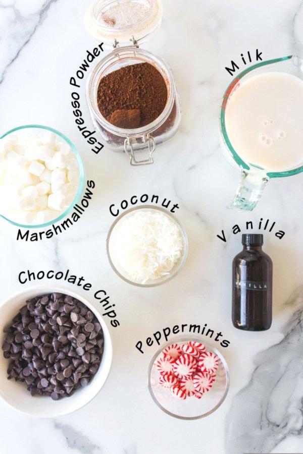 hot chocolate dessert ingredients