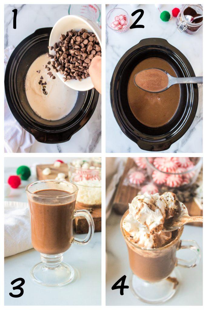 hot chocolate in crock pot