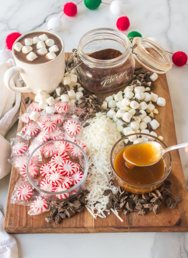 Chocolate Caramel peppermint with hot cocoa