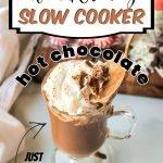 hot chocolate mug with whipped cream