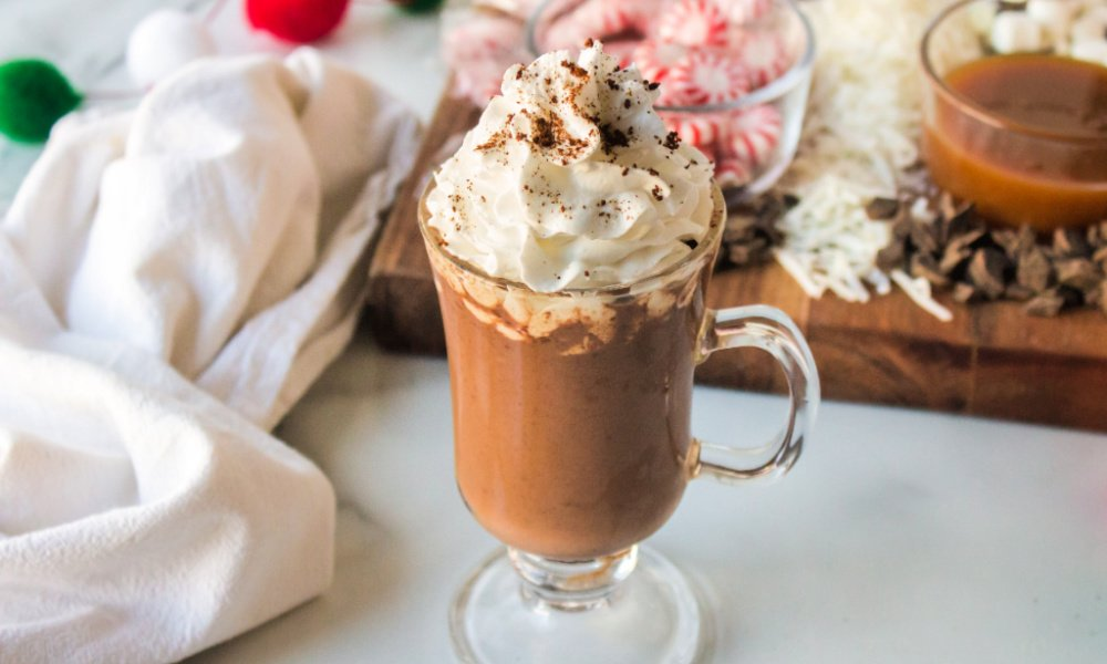 mug of hot chocolate with whipped cream