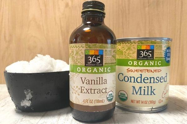 snow ice cream ingredients extract snow condensed milk can