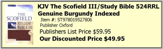 Scofield III Burgundy Indexed