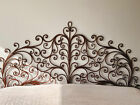 Vintage Italian Hand Forged Wrought Iron Headboard with Stunning Design King