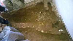Digging below the old floor