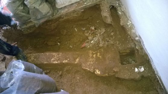 Digging below the old floor