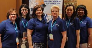 From left to right, Lynn Petruzzi, Paula Sosin, Estrella Bibbey, Cathy Taylor, Judy Kang, and me (Betty Collier)