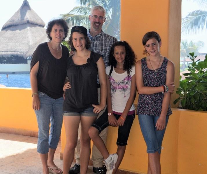 Alex, Amy, and their three girls - Karis, Bella, and Lexy