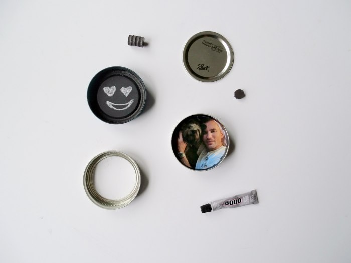 DIY Mason Jar Lid Magnets